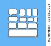 pixel game speech balloons set... | Shutterstock .eps vector #1166817325