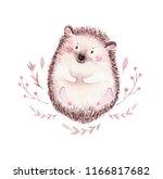 cute baby fox  deer animal... | Shutterstock . vector #1166817682