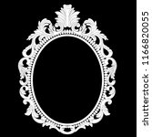 vintage oval graphical frame in ... | Shutterstock .eps vector #1166820055