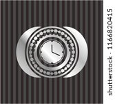 clock  time icon inside silver... | Shutterstock .eps vector #1166820415