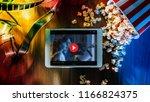 digital touch screen tablet... | Shutterstock . vector #1166824375