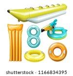 vector realistic set of swim... | Shutterstock .eps vector #1166834395