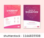 charity and donation poster... | Shutterstock .eps vector #1166835508