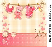 baby shower card | Shutterstock .eps vector #116683702