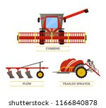 combine and plow  trailed...   Shutterstock .eps vector #1166840878