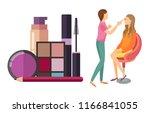 visage makeup visagiste... | Shutterstock .eps vector #1166841055