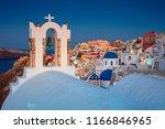 oia  santorini. image of famous ... | Shutterstock . vector #1166846965