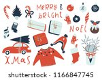 winter and christmas sticker... | Shutterstock .eps vector #1166847745