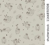 seamless hand drawn pattern...   Shutterstock . vector #1166850508