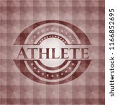 athlete red seamless badge with ...   Shutterstock .eps vector #1166852695
