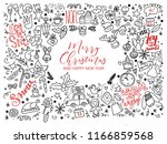 merry christmas and happy new... | Shutterstock .eps vector #1166859568