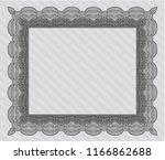 grey sample certificate. with... | Shutterstock .eps vector #1166862688