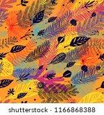 autumn seamless trendy pattern  ... | Shutterstock .eps vector #1166868388