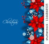 red poinsettia christmas party... | Shutterstock .eps vector #1166868535