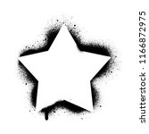 five point star stencil... | Shutterstock .eps vector #1166872975