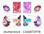 set of design of brochure ... | Shutterstock .eps vector #1166872978