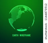 wireframe planet earth globe.... | Shutterstock . vector #1166873512