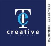 et initial letter logo icon... | Shutterstock .eps vector #1166874988