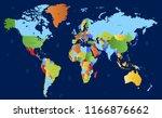 world map vector | Shutterstock .eps vector #1166876662