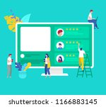 vector illustration of group...