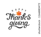 happy thanks giving hand drawn... | Shutterstock .eps vector #1166883472