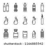 vector icon set of pictures of... | Shutterstock .eps vector #1166885542