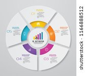 5 steps cycle chart... | Shutterstock .eps vector #1166888512