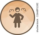 angry woman icon | Shutterstock .eps vector #1166891182