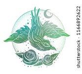 boho abstract illustration with ... | Shutterstock .eps vector #1166892622