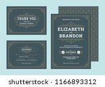 set wedding invitations... | Shutterstock .eps vector #1166893312