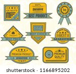 set of premium quality and... | Shutterstock . vector #1166895202