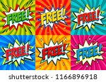 free   comic book style... | Shutterstock . vector #1166896918