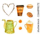 watercolor autumn nature... | Shutterstock . vector #1166898172