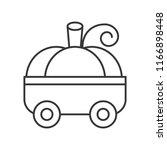 pumpkin car children toy ... | Shutterstock .eps vector #1166898448