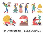 set of farmer men and women....   Shutterstock .eps vector #1166900428