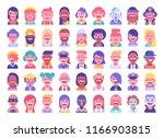 super set of 45 cool flat... | Shutterstock .eps vector #1166903815