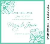 wedding card or invitation with ...   Shutterstock .eps vector #116690662