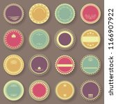 grunge stamp collection. set of ... | Shutterstock . vector #1166907922