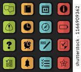 organizer icons. bright colors. ... | Shutterstock . vector #1166909362