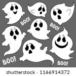 ghosts thematic set 2   eps10... | Shutterstock .eps vector #1166914372