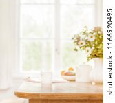 home wooden kitchen table top... | Shutterstock . vector #1166920495