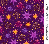 diwali seamless pattern with... | Shutterstock .eps vector #1166931625