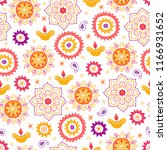 diwali seamless pattern with... | Shutterstock .eps vector #1166931652