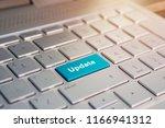 update button on keyboard. blue ... | Shutterstock . vector #1166941312