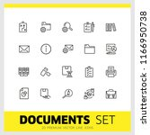 documents icons. set of  line... | Shutterstock .eps vector #1166950738