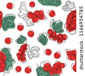 seamless vector pattern of red... | Shutterstock .eps vector #1166954785