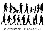 people  set  silhouette | Shutterstock .eps vector #1166957128