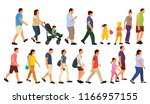 vector  isolated  walking... | Shutterstock .eps vector #1166957155