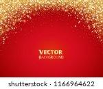 sparkling glitter border  frame.... | Shutterstock .eps vector #1166964622