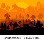 forest cut down landscape with... | Shutterstock .eps vector #116696488
